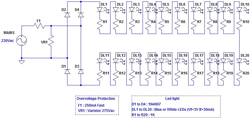 simple christmas lights circuit diagram